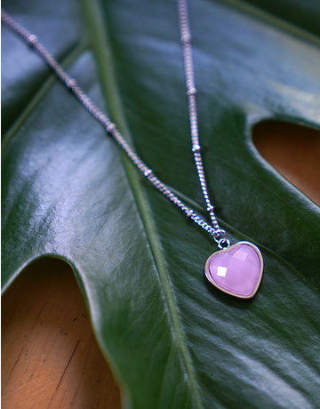 Heart Of ... Rose Quartz Silver