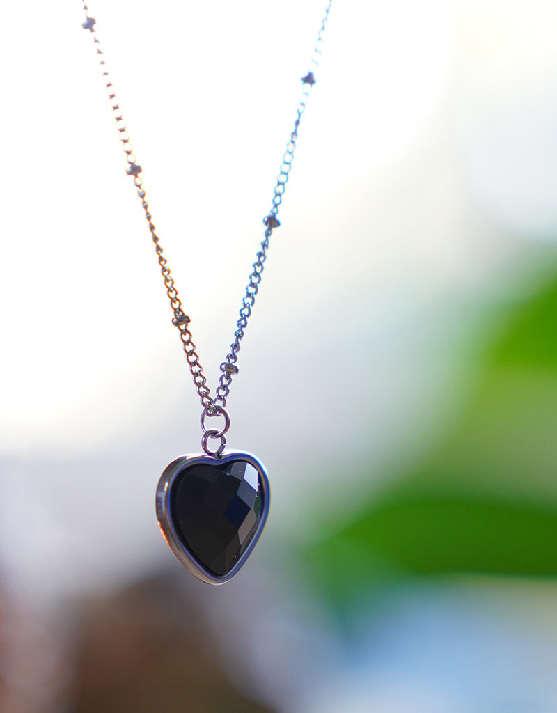 Heart Of ... Black Onyx Silver
