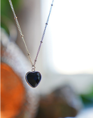 Heart Of ... Black Onyx Silver