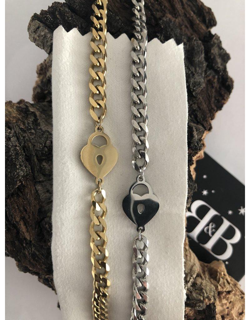 Locked up Heart silver armband