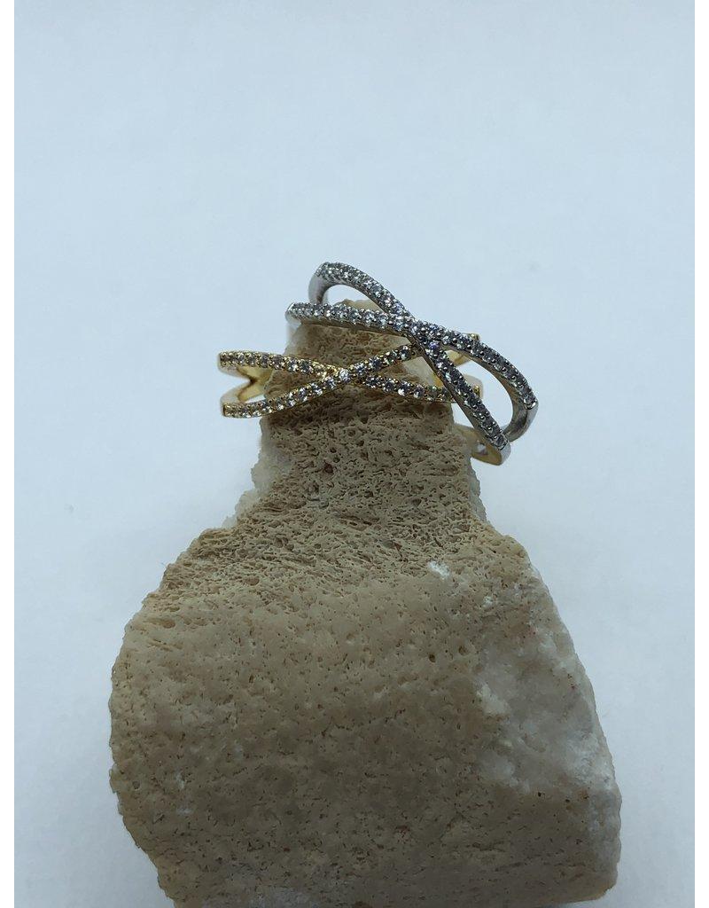 Cross Ring Silver