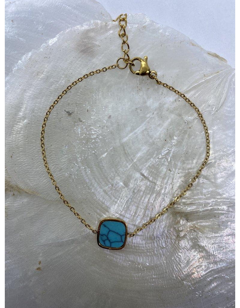 Marbre Blue Bracelet Gold