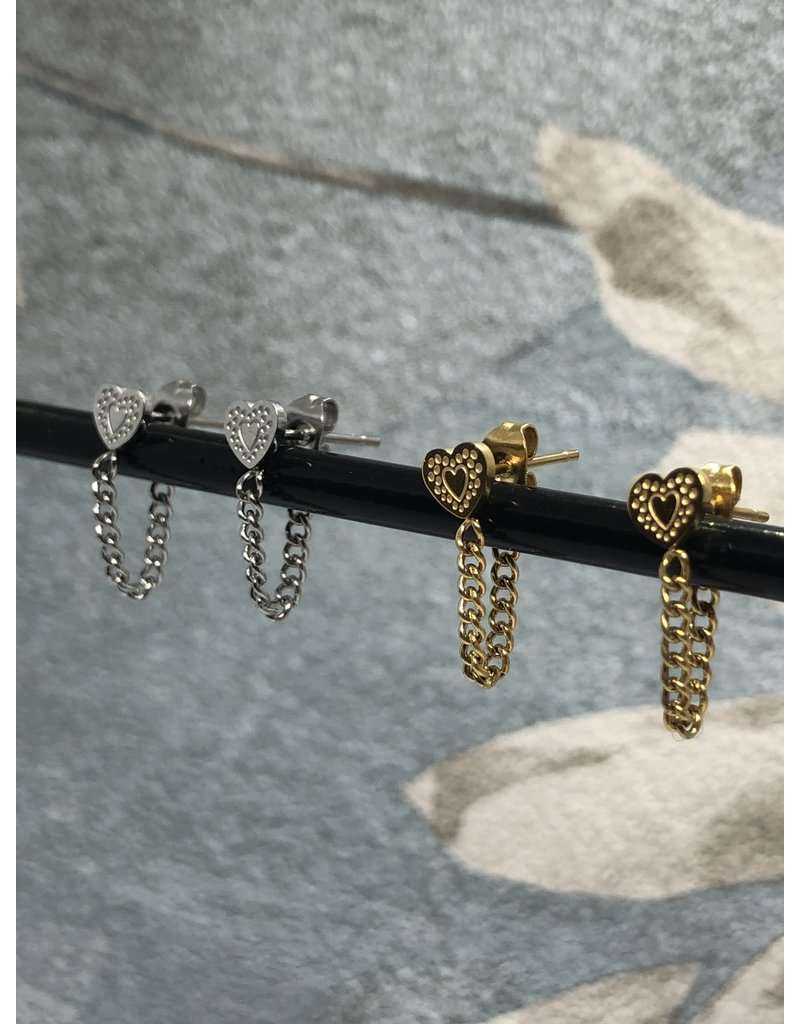 Earring Heart and Chain!
