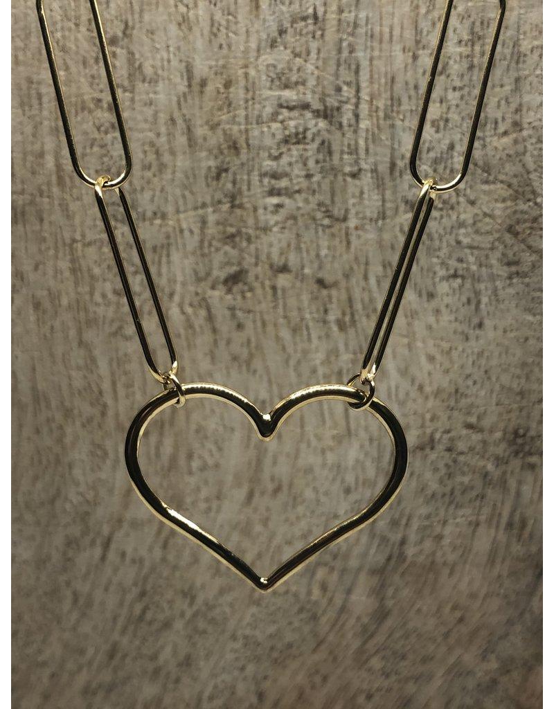 Chain my Heart Ketting Gold