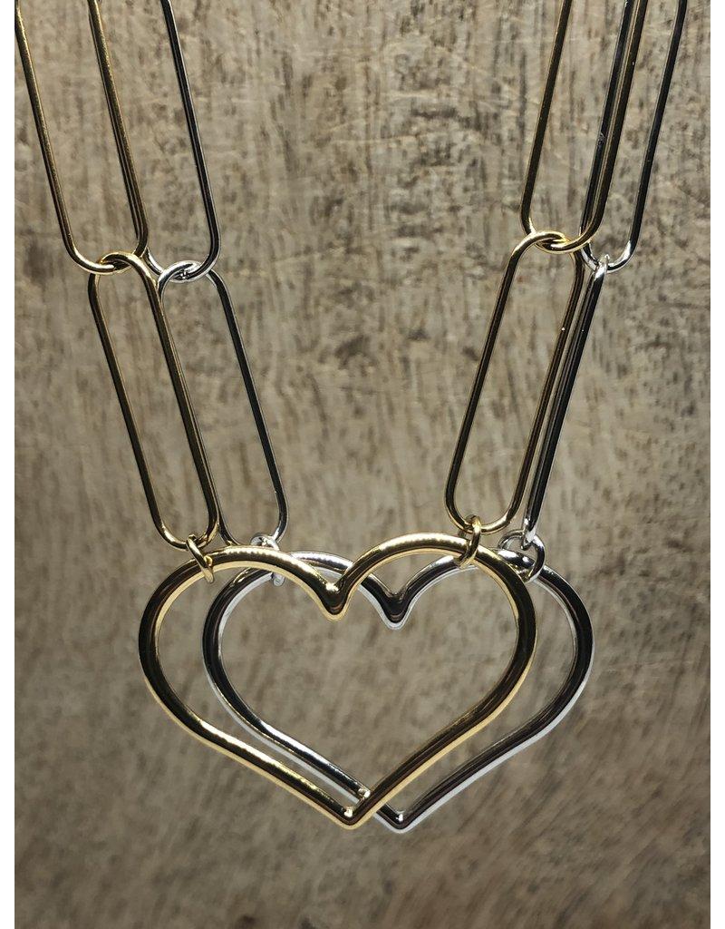 ketting Link my heart goud