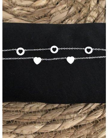 Bracelet Romantic hearts