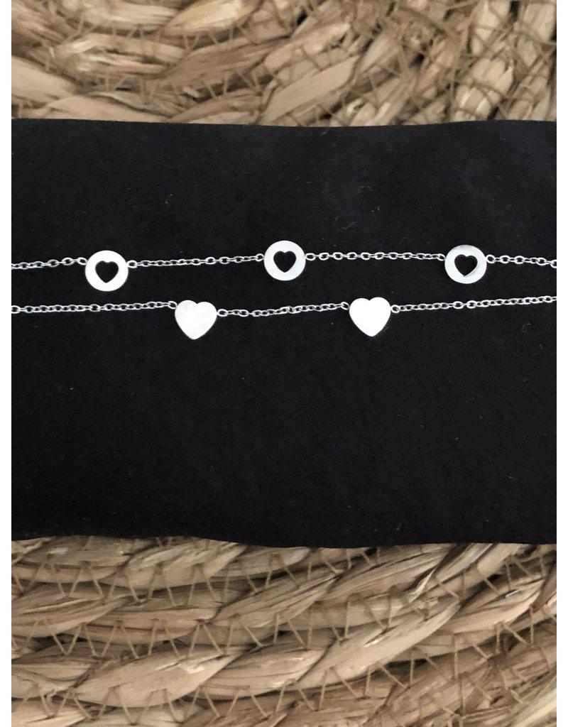 Romantic Stainless Steel Bracelet Silver