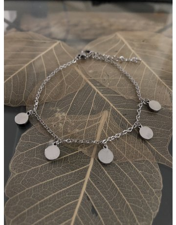 Small Coin Bracelet Silver