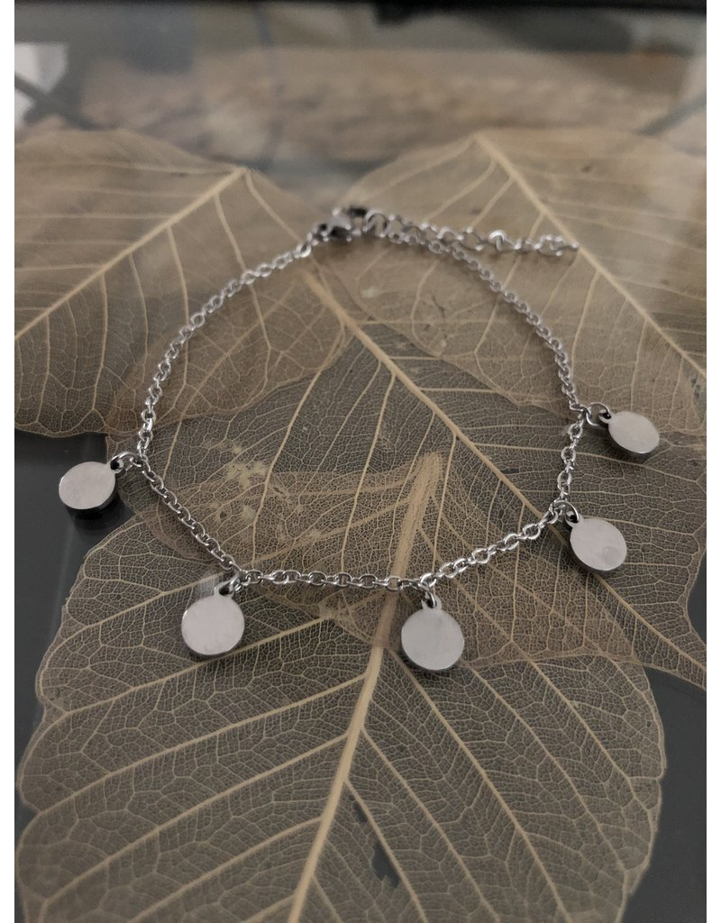 Silver bracelet with coins