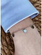 Small Coin Bracelet Silver
