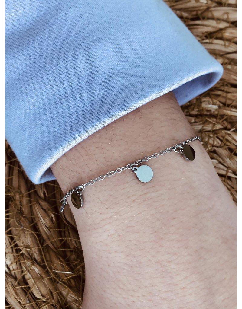 Zilveren armband met muntjes