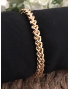 Round cable armband goud