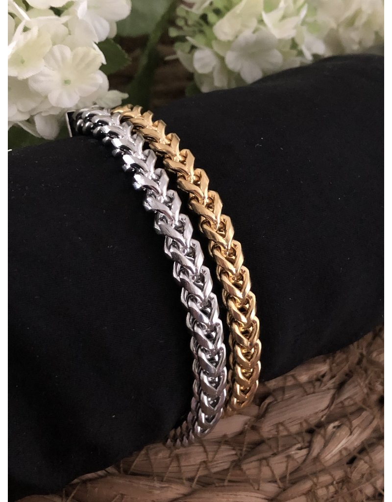Round Cable Bracelet Silver