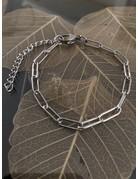 Schakel armband zilver