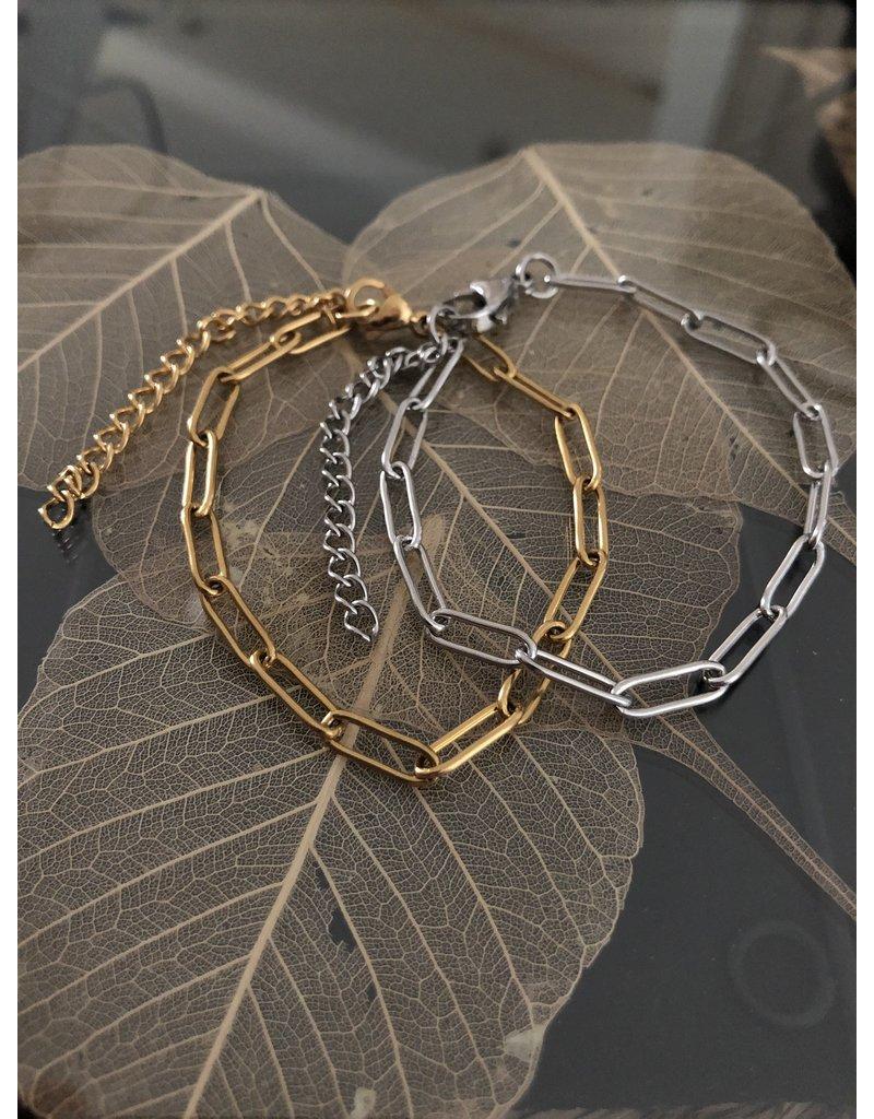 Simple Chain Bracelet Silver