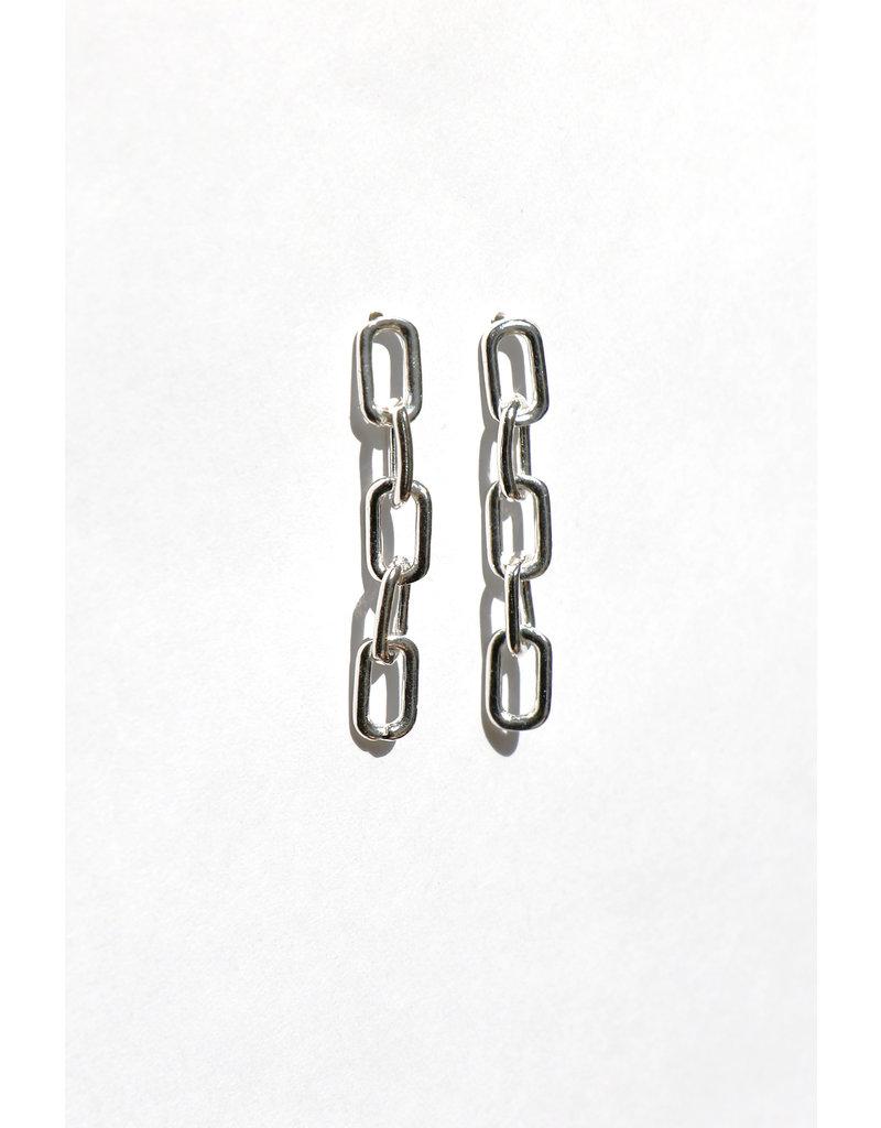 Falling  Chain Earring 925 Sterling Silver