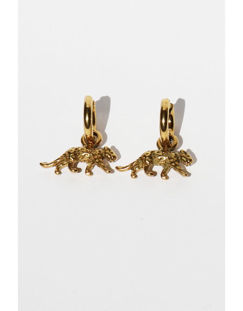 Golden Leopard earrings