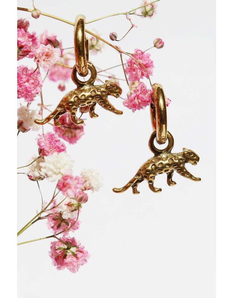 Gouden Luipaard oorringen