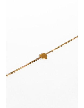 A Women's Heart Bracelet Gold