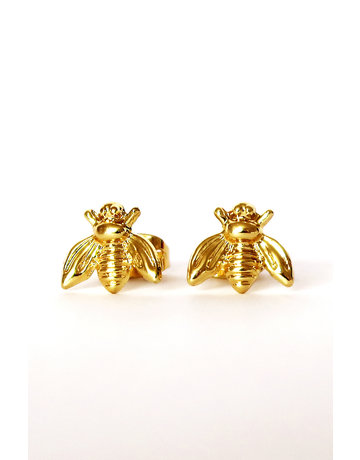 Bee studs gold