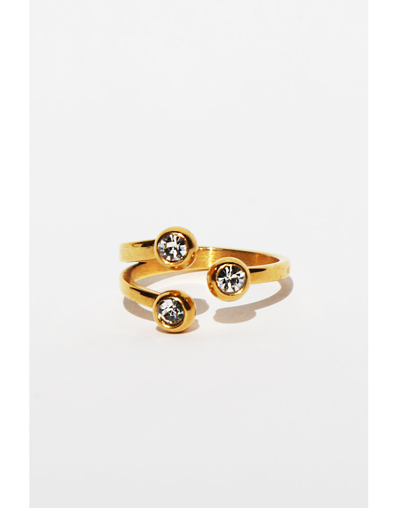 Diamond dots ring gold