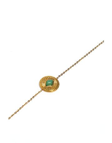 Armband Green stone