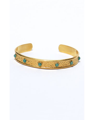 Bangle open with stones