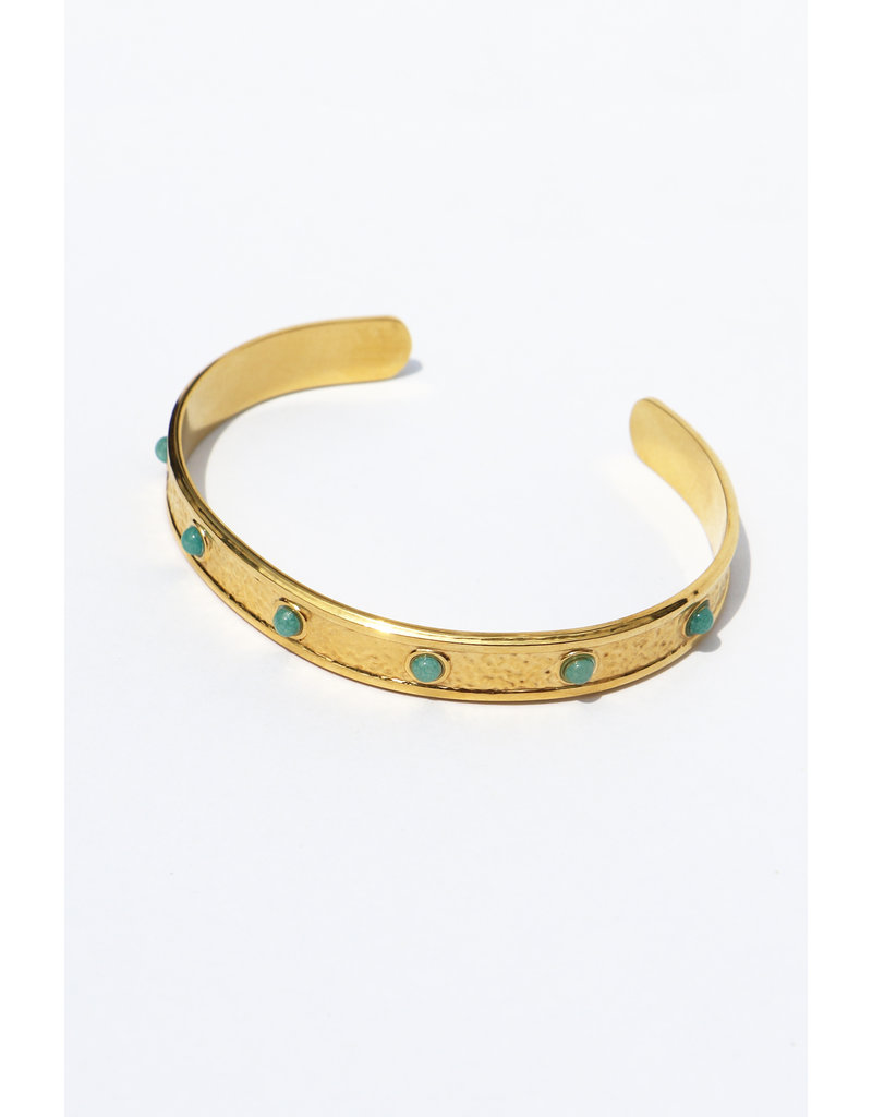 Golden Bangle with stones