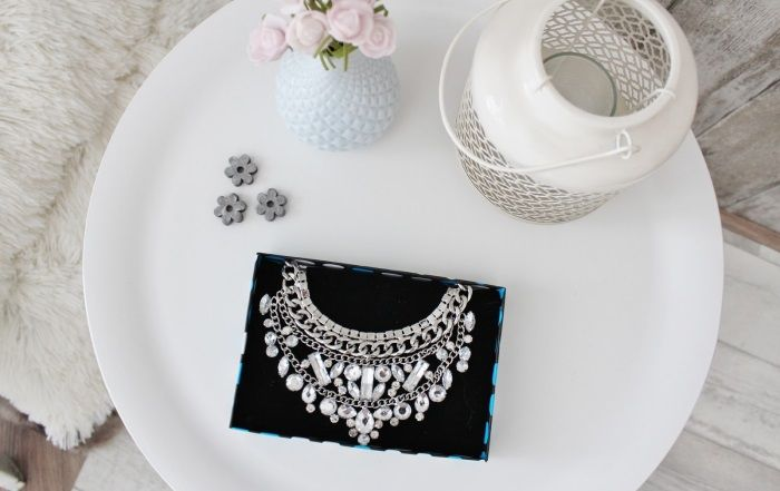 A way to wear a statement necklace