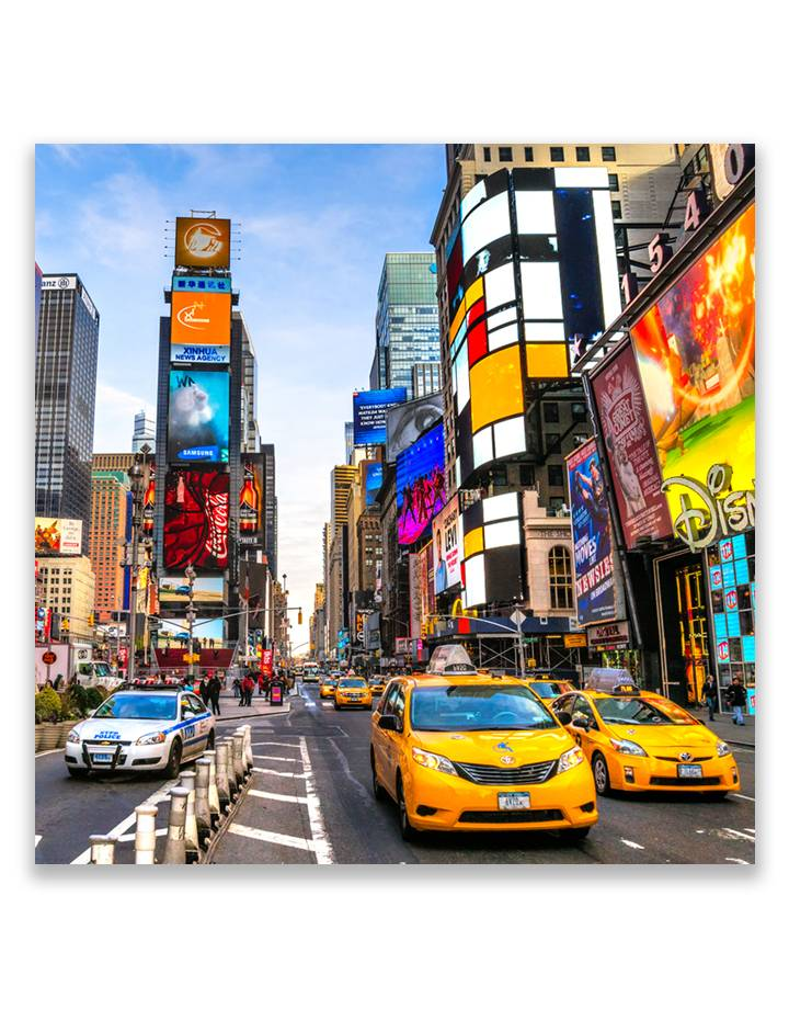 Times Square 5mm print - fraaie glas look van jouw foto's
