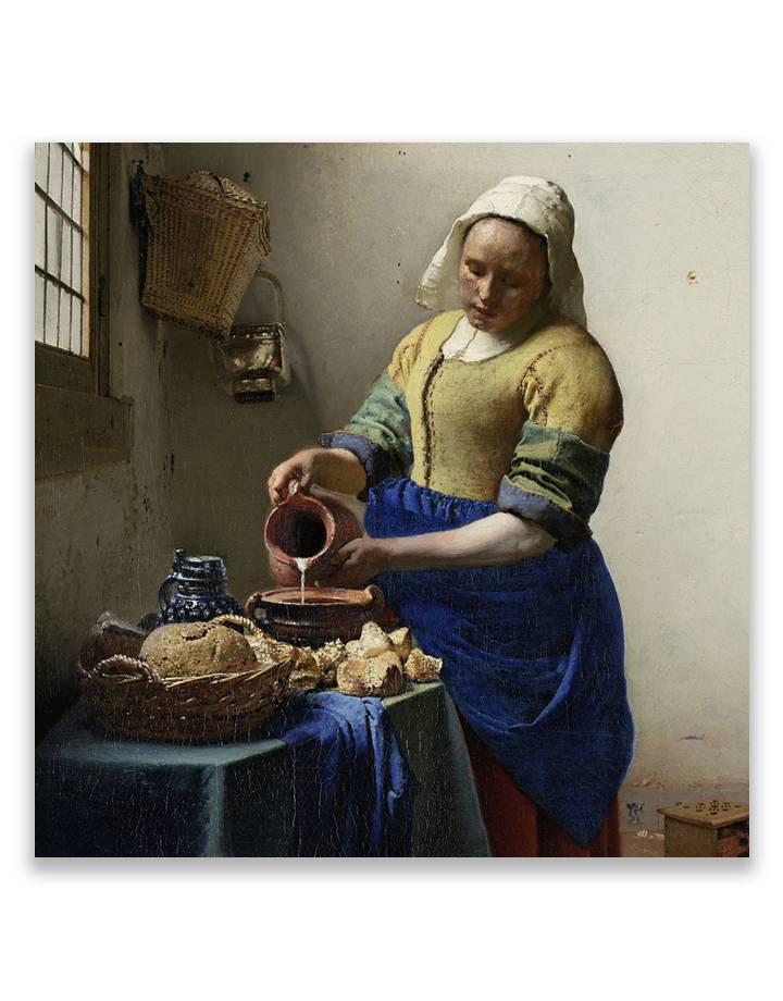 Vermeer Melkmeisje 5mm print - fraaie glas look van jouw foto's