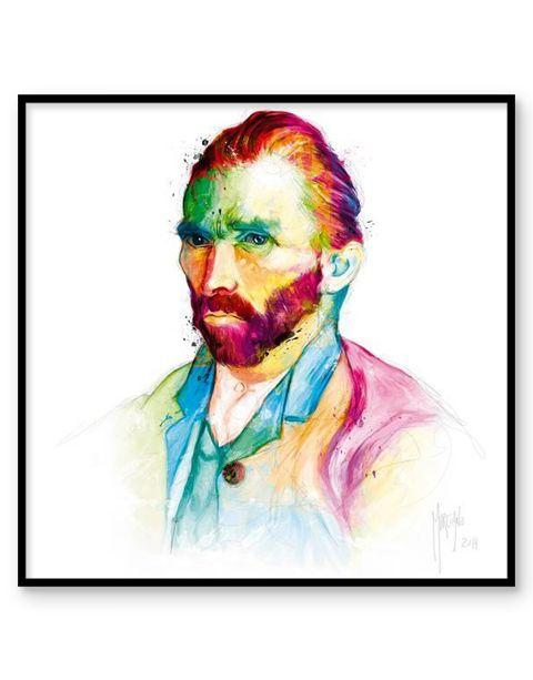 Van Gogh | artprint in Pro Line zwarte aluminium lijst