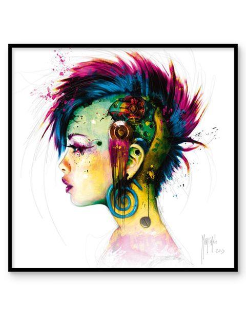 Cyber Punk | artprint in Pro Line zwarte aluminium lijst