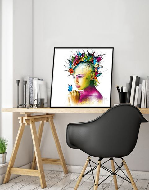 Power of Love | artprint in Pro Line zwarte aluminium lijst