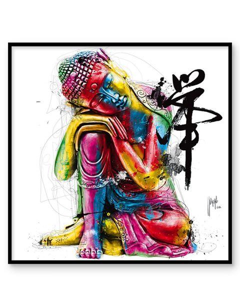 Buddha | artprint in Pro Line zwarte aluminium lijst