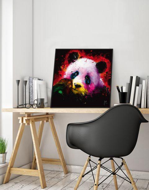 Panda Pop | artprint in Pro Line zwarte aluminium lijst