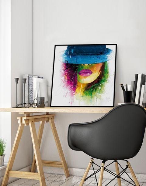 Coralie II | artprint in Pro Line zwarte aluminium lijst