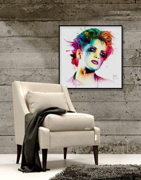 Skin Pop | artprint in Pro Line zwarte aluminium lijst