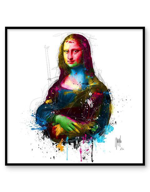 Da Vinci Pop | artprint in Pro Line zwarte aluminium lijst