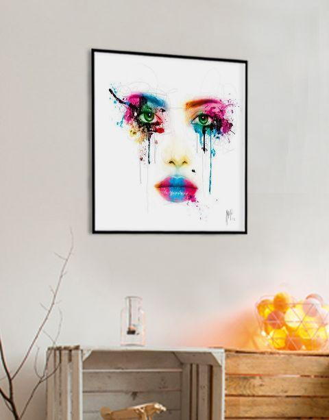 Colors | artprint in Pro Line zwarte aluminium lijst