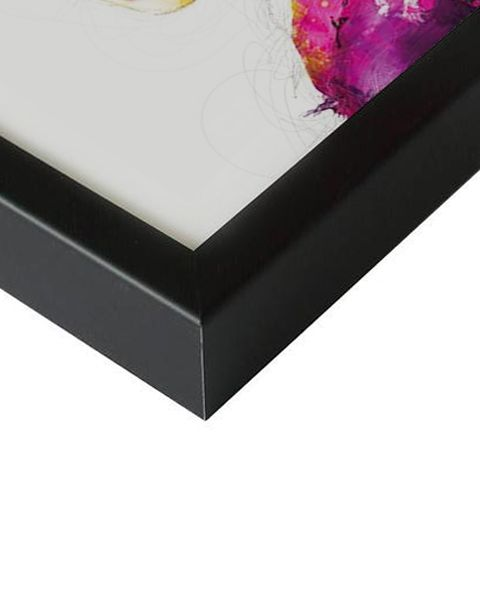 Wolf  | artprint in Pro Line zwarte aluminium lijst