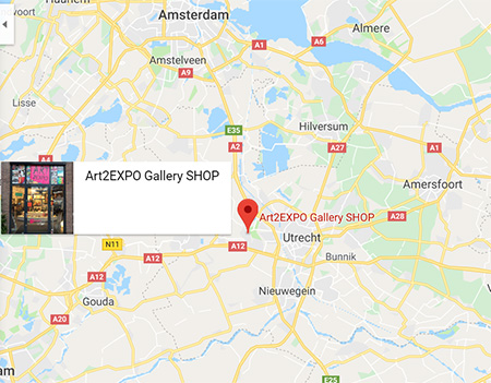 Route naar Art2Expo Gallery SHOP