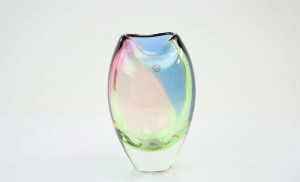 Handgemaakte leerdam vaas van Boheems kristal
