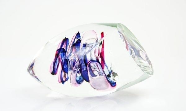 Handgemaakt glasobject van Boheems kristal