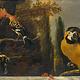Vogels op een balustrade - Melchior D'hondecouter