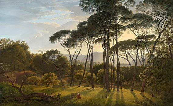 Italiaans landschap - Hendrik Voogd