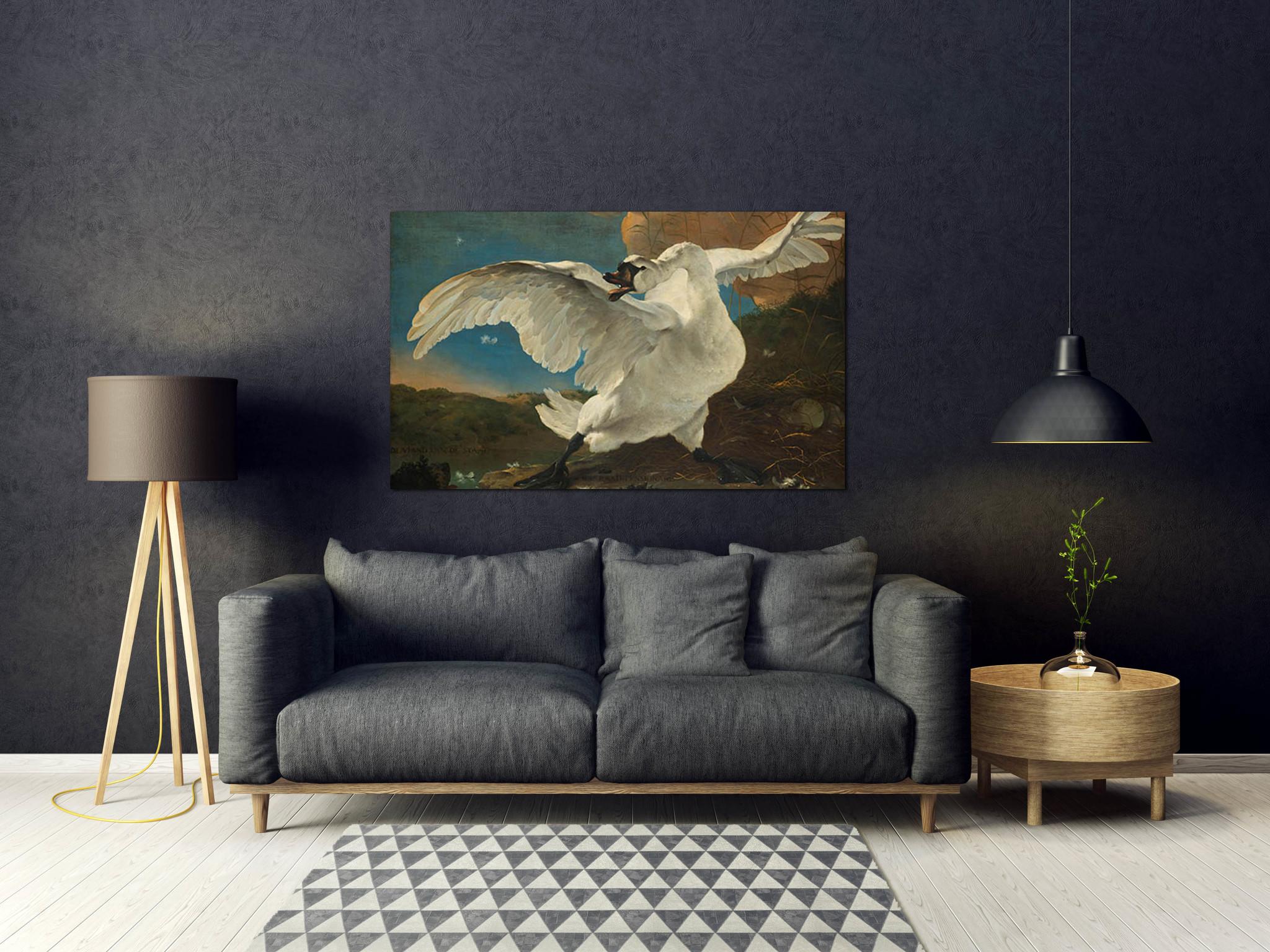 De bedreigde zwaan - Jan Asselijn
