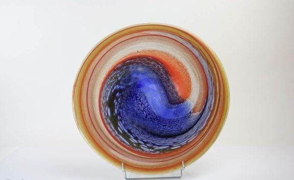 Glazen schaal Palette