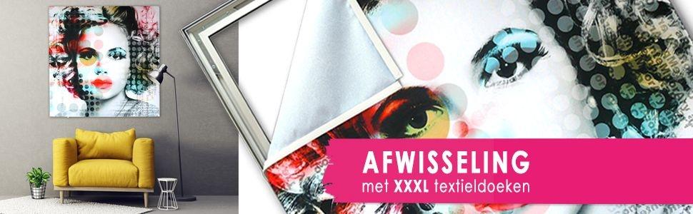 Textielframes met de mooiste prints op textieldoek