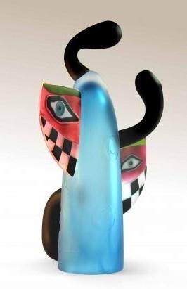 Handgemaakt glas object Dancer